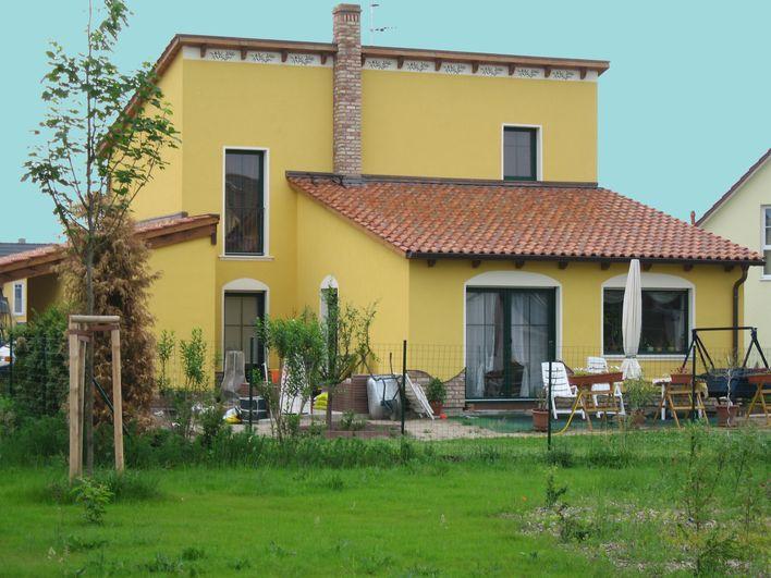 Innenhofhaus im mediterranen Stil