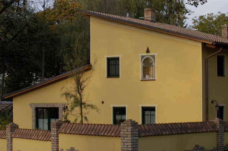 Innenhofhaus im mediterranes Stil
